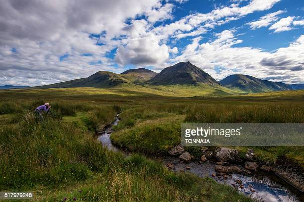 buachaille etive mor, glencoe, highland - glen etive mor stock pictures, royalty-free photos & images