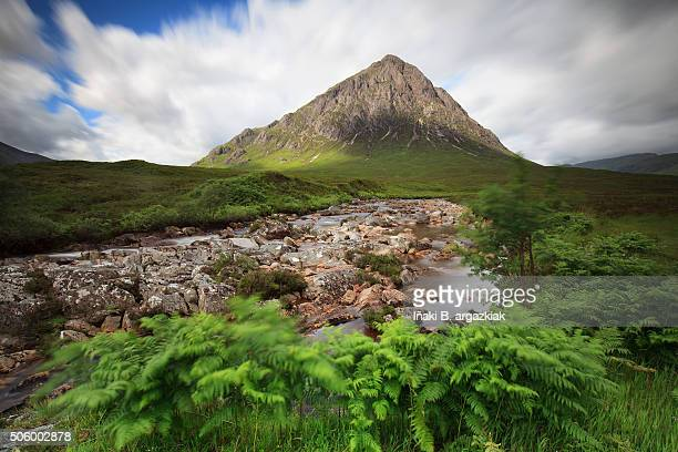 Buachaille Etive Mor on windy day