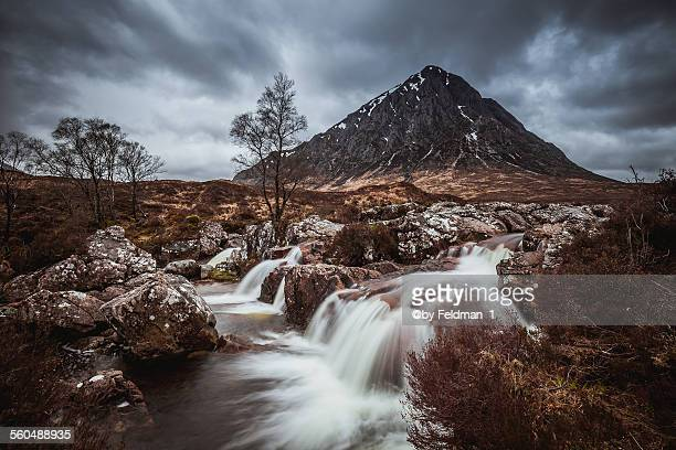 buachaille etive mor - glen etive mor stock pictures, royalty-free photos & images