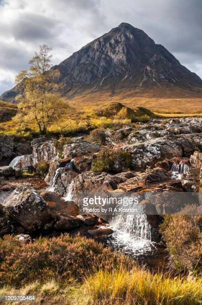 buachaille etive mor waterfall, scotland - grampian scotland stock pictures, royalty-free photos & images