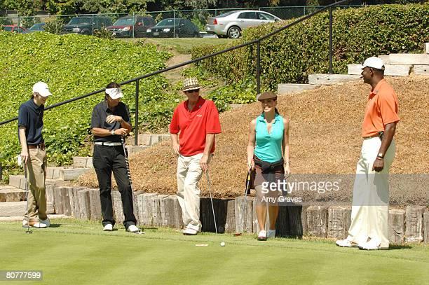 Bubba Lewis Alice Cooper Brett CullenPaula Trickey and Dennis Haysbert participate in the Autism Speaks 5th Annual LA Golf Classic at the Riviera...