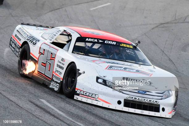 Bubba Pollard Ford Fusion races in the SpeedFest 200 ARCA CRA Super Series race Sunday January 26 at Watermelon Capital Speedway at Crisp Motorsports...