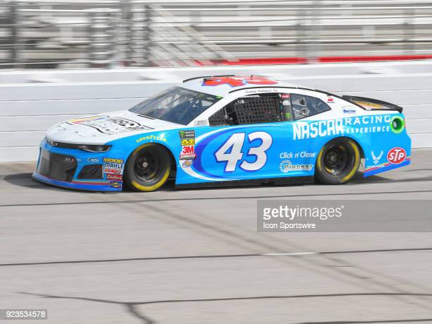 Bubba Wallace Jr Richard Petty Motorsports NASCAR Racing Experience Chevrolet Camaro during practice for the Monster Energy Cup Series Folds of Honor...