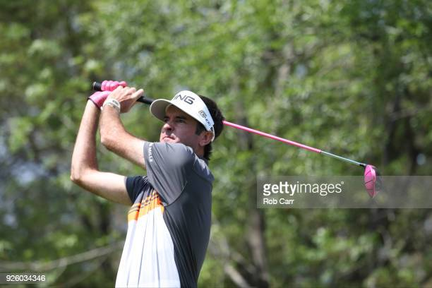 Bubba Watson during tees off on the 11th hole during the first round of World Golf ChampionshipsMexico Championship at Club de Golf Chapultepec on...