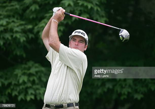 Bubba Watson hits a shot during the third round of The Memorial on June 2 2007 at Muirfield Village Golf Club in Dublin Ohio