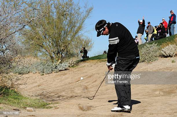 Bubba Watson hits his second shot on the par 4 4th hole during the third round of the World Golf Championships Accenture Match Play at the Golf Club...