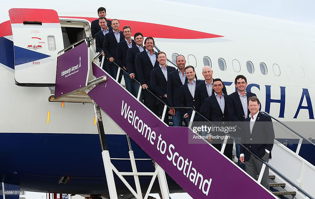 USA Team Arrival At Edinburgh Airport - 2014 Ryder Cup