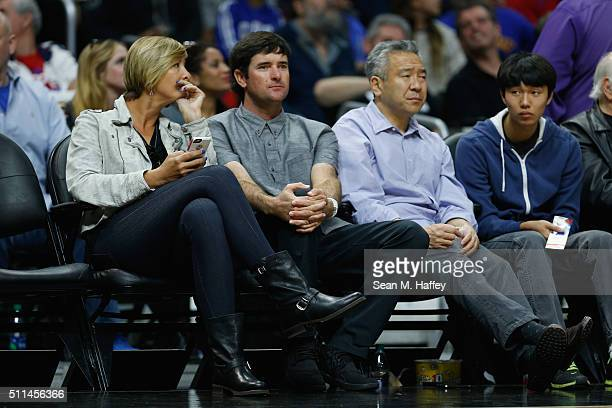 Bubba Watson looks on during a game between the Los Angeles Clippers and Golden State Warriors at Staples Center on February 20 2016 in Los Angeles...