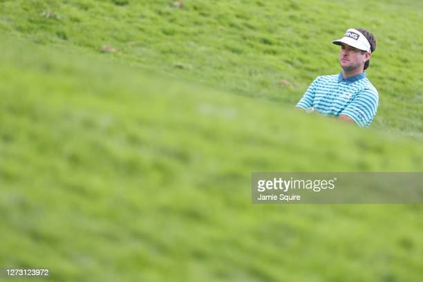 Bubba Watson of the United States looks on over the 11th hole during the first round of the 120th U.S. Open Championship on September 17, 2020 at...