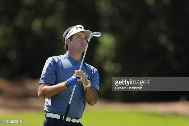 Bubba Watson of the United States plays his second shot on the first hole during the first round of the Arnold Palmer Invitational Presented by...