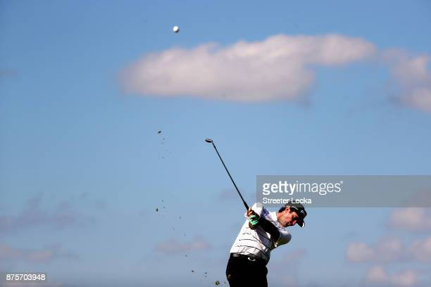 Bubba Watson of the United States plays his shot on the sixth hole during the second round of The RSM Classic at Sea Island Golf Club Seaside Course...
