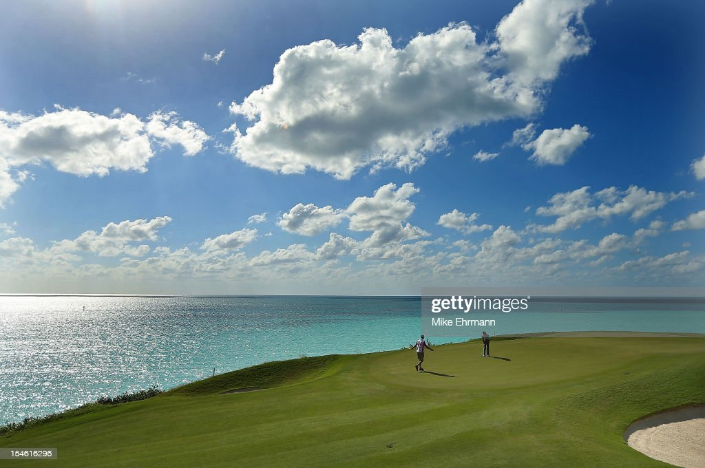 Bubba Watson of the United States putts on the 16th hole during the PGA Grand Slam of Golf at Port Royal Golf Course on October 23, 2012 in Southampton, Bermuda.