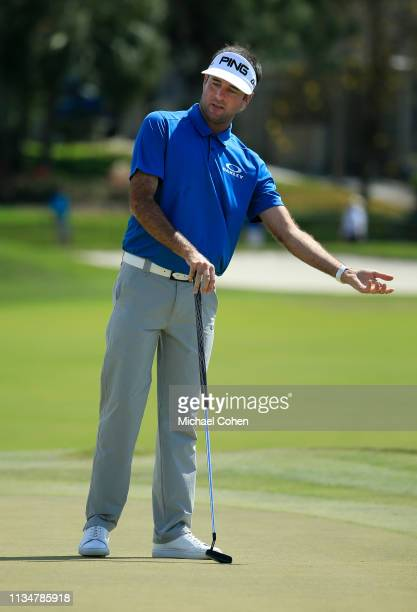 Bubba Watson of the United States reacts on the third green during the third round of the Arnold Palmer Invitational Presented by Mastercard at the...