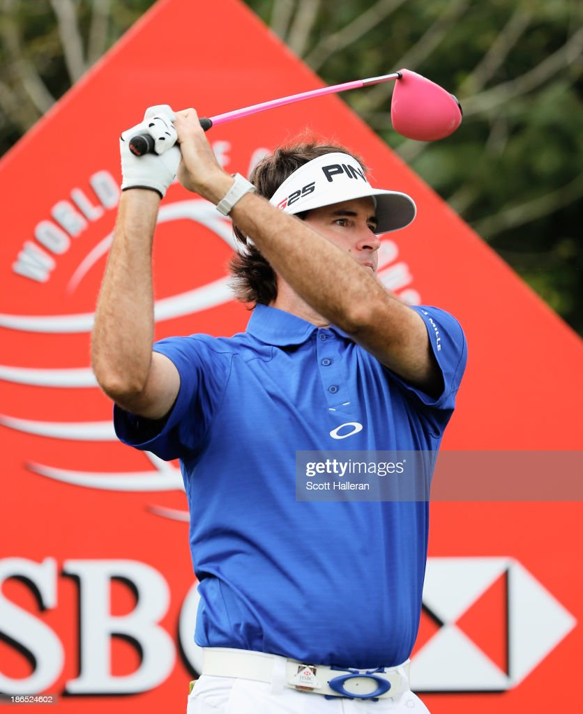 Bubba Watson of the USA hits his tee shot on the first hole during the second round of the WGC-HSBC Champions at the Sheshan International Golf Club on November1, 2013 in Shanghai, China.