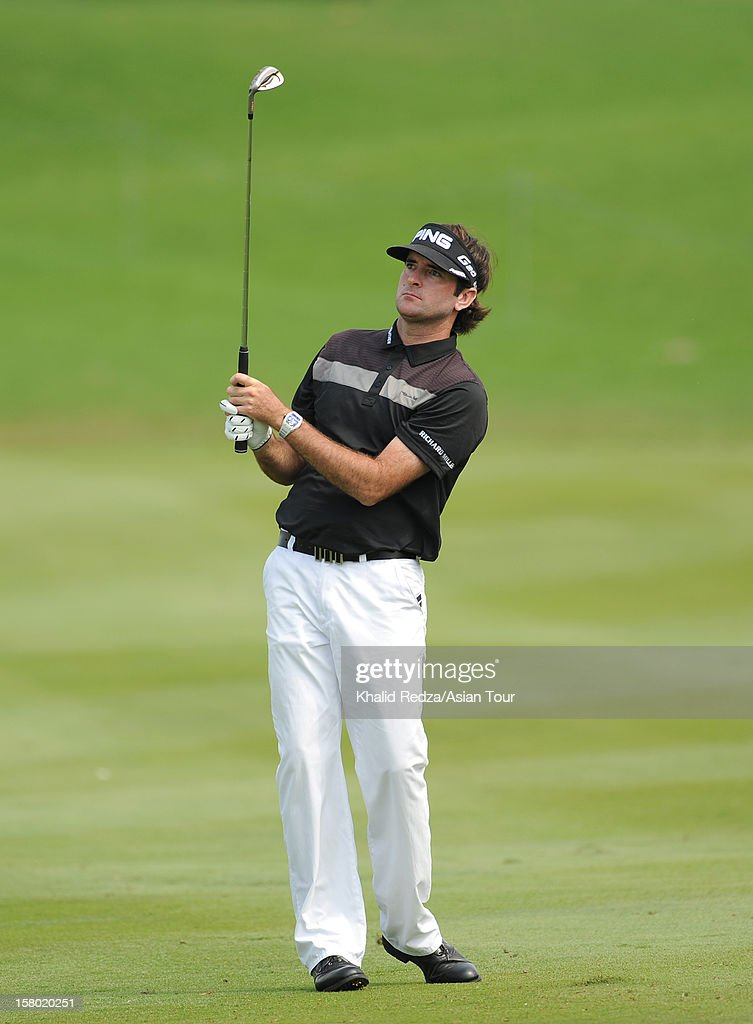 Bubba Watson of USA in action during round four of the Thailand Golf Championship at Amata Spring Country Club on December 9, 2012 in Bangkok, Thailand.