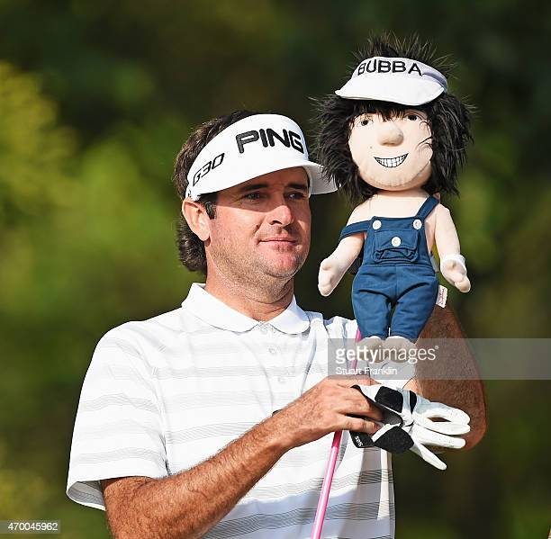 Bubba Watson of USA removes his head cover off of his driver during the second round of the Shenzhen International at Genzon Golf Club on April 17...