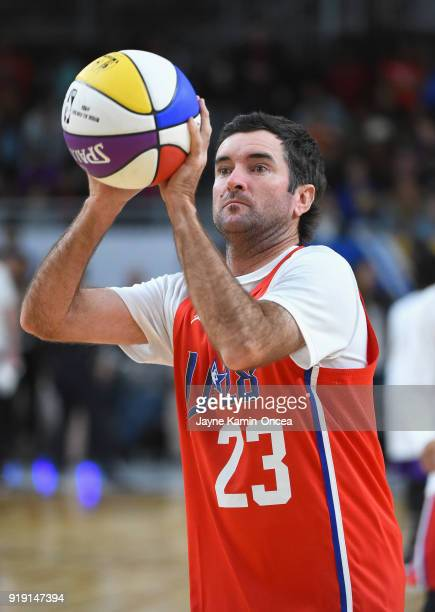 Bubba Watson plays during the 2018 NBA AllStar Game Celebrity Game at Los Angeles Convention Center on February 16 2018 in Los Angeles California