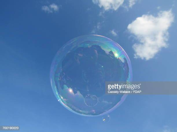 Bubble against sky