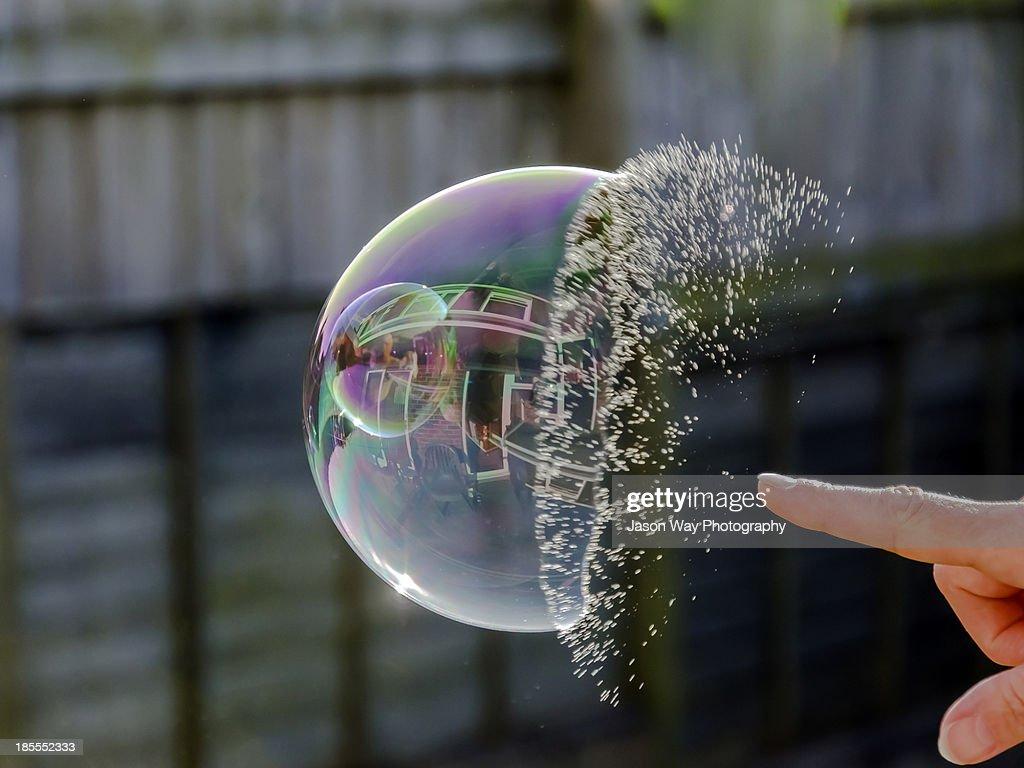Bubble burst : Stock Photo
