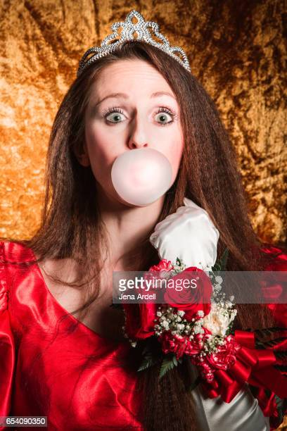 bubble gum bubble girl - jena rose stockfoto's en -beelden