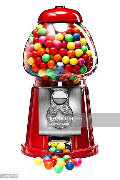 Bubble gum machine full of gum balls