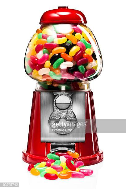 Bubble gum machine with jelly beans