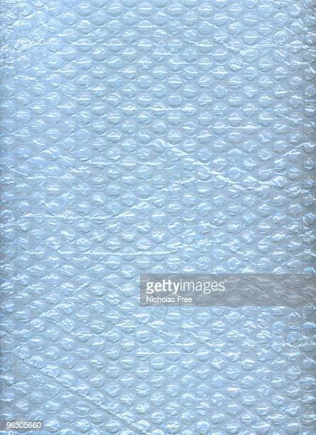 Envoltura de burbujas azules