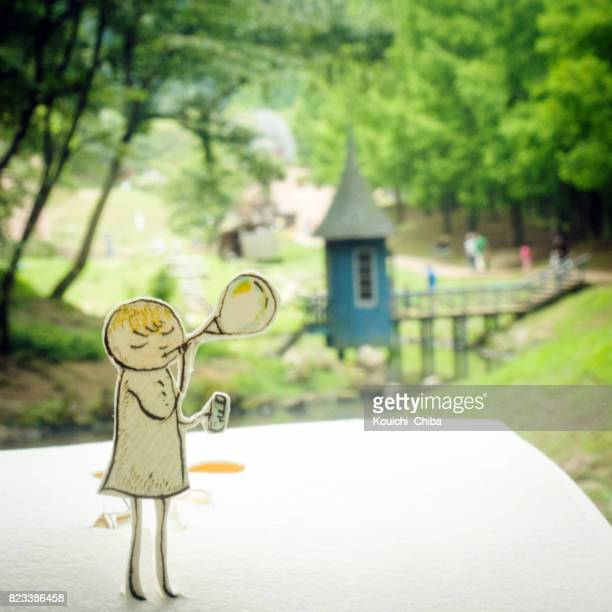 bubbles blowing - kouichi chiba stock photos and pictures