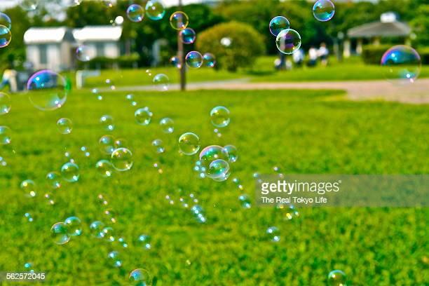 Bubbles in fine day in Tokyo Japan