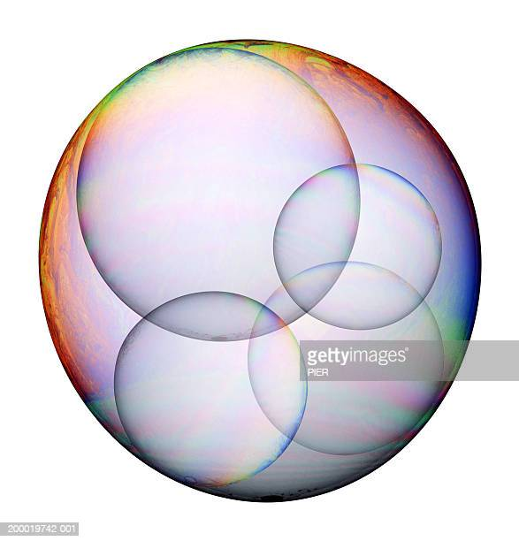 Bubbles trapped inside larger bubble (Digital Composite)