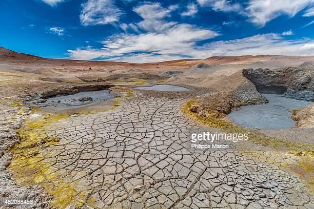 Bubbling geyser - altiplano of Bolivia