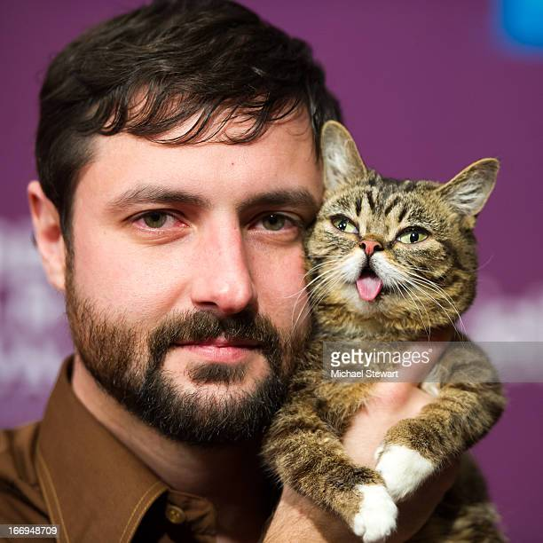 Bubs owner Mike Bridavsky and celebrity internet cat Lil Bub attends the screening of Lil Bub Friendz during the 2013 Tribeca Film Festival at SVA...