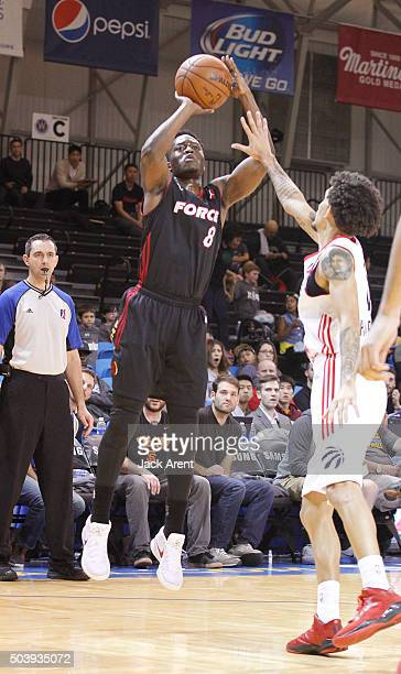 Bubu Palo of the Sioux Falls Skyforce shoots the ball against the Raptors 905 during the 2016 NBA DLeague Showcase presented by SAMSUNG on January 7...