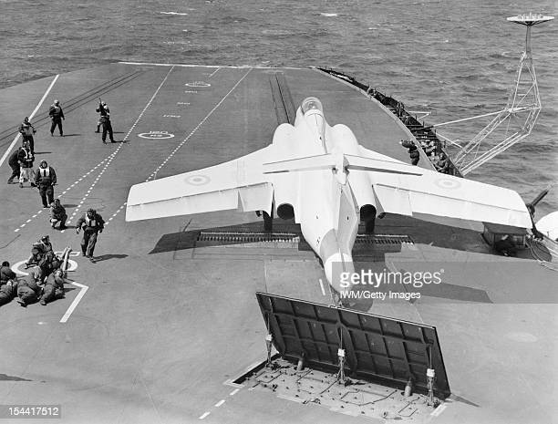 Buccaneer Trials In HMS Hermes May 1962 On Board The Aircraft Carrier HMS Hermes During Deck Landing Trials Of The Blackburn Buccaneer With the jet...