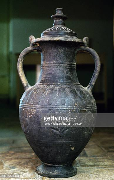 Bucchero amphora Etruscan civilisation Orvieto Museo Claudio Faina