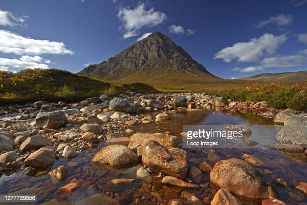 Buchaille Etive Mor from the River Coupal on Rannoch Moor.