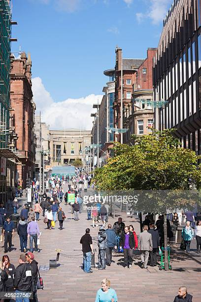 buchanan street, glasgow - theasis stock pictures, royalty-free photos & images