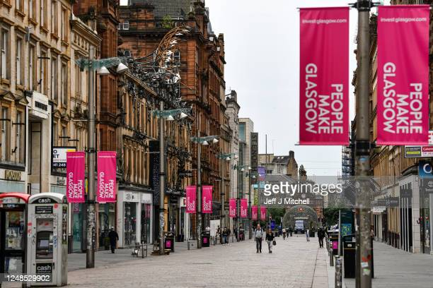 Buchanan Street in Glasgow, just one of the many streets linked to slave owners, on June 9, 2020 in Glasgow, Scotland. Glasgow and its historic ties...