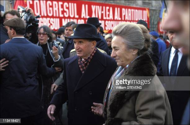 Bucharest Acclaimed N Ceausescu And His Wife After The Congress Of Pcr On November 24th 1989 In Bucharest Romania