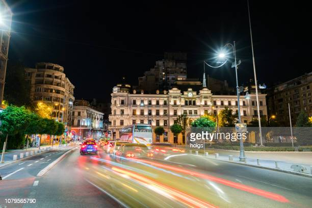 bucharest city street, romania, europe - bucharest stock pictures, royalty-free photos & images