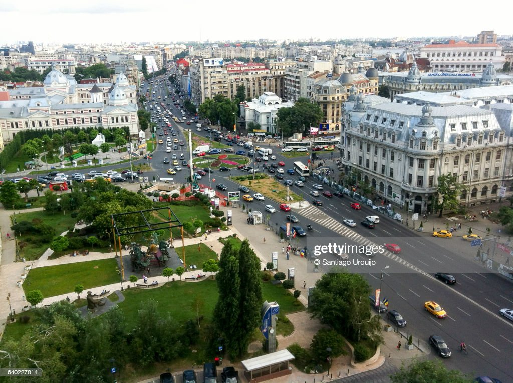 Bucharest cityscape : Stock-Foto