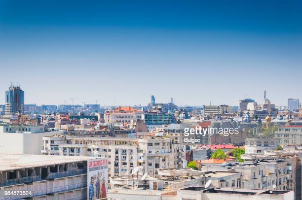 bucharest cityscape - bucharest stock pictures, royalty-free photos & images