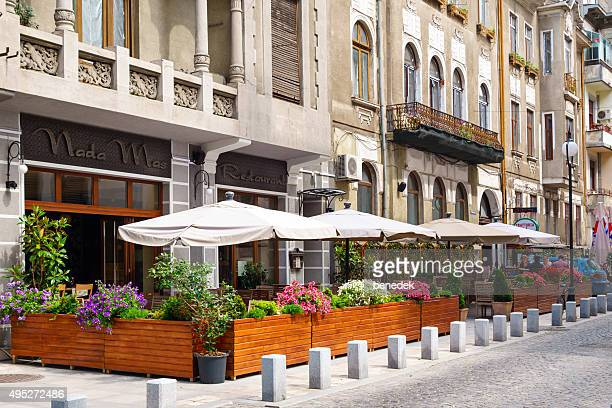 Bucharest Downtown Restaurant Patio