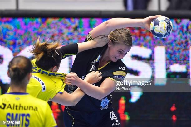 Bucharest's Isabelle Gullden during 2017/18 EHF Women's Champions League Quarter Final match between CSM Bucharest and Metz Handball at Polyvalent...