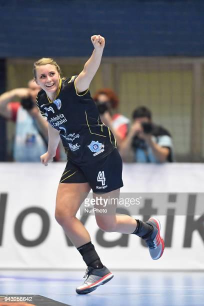 Bucharest's Isabelle Gullden during CSM Bucharest v Metz Handball - EHF Women's Champions League Quarter Final, Polyvalent Hall, Bucharest, Romania,...