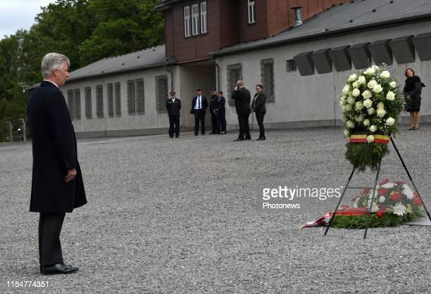 Buchenwald Germany Bezoek van Koning Filip Koning Mathilde aan de Bondsrepubliek Duitsland deelstaat Thüringen SachsenAnhalt Bezoek van het...