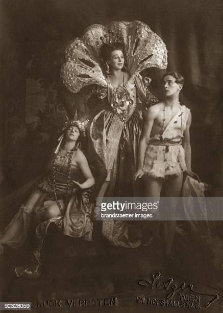 """Buchinger, Marie Gutheil Schoder and Toni Birkmeyer in """"Josephs Legende"""" by Richard Strauss. Vienna. Photograph. 1922"""