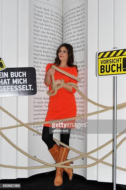 Buchmesse Leipzig 2013 Foto ZDF Aspekte Moderatorin Katty Salié