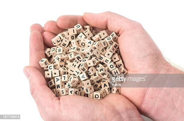 Buchstaben en mano