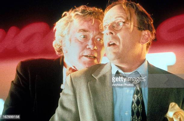 Buck Henry and Bruce Willis in a scene from the film 'Breakfast of Champions' 1999